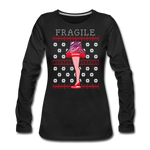 Women's Fragile Christmas Premium Long Sleeve T-Shirt - black