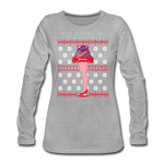 Women's Fragile Christmas Premium Long Sleeve T-Shirt - heather gray