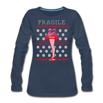 Women's Fragile Christmas Premium Long Sleeve T-Shirt - navy