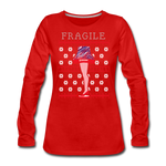 Women's Fragile Christmas Premium Long Sleeve T-Shirt - red