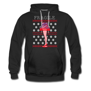 Men's Fragile Christmas Premium Hoodie - black