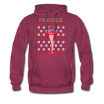 Men's Fragile Christmas Premium Hoodie - burgundy