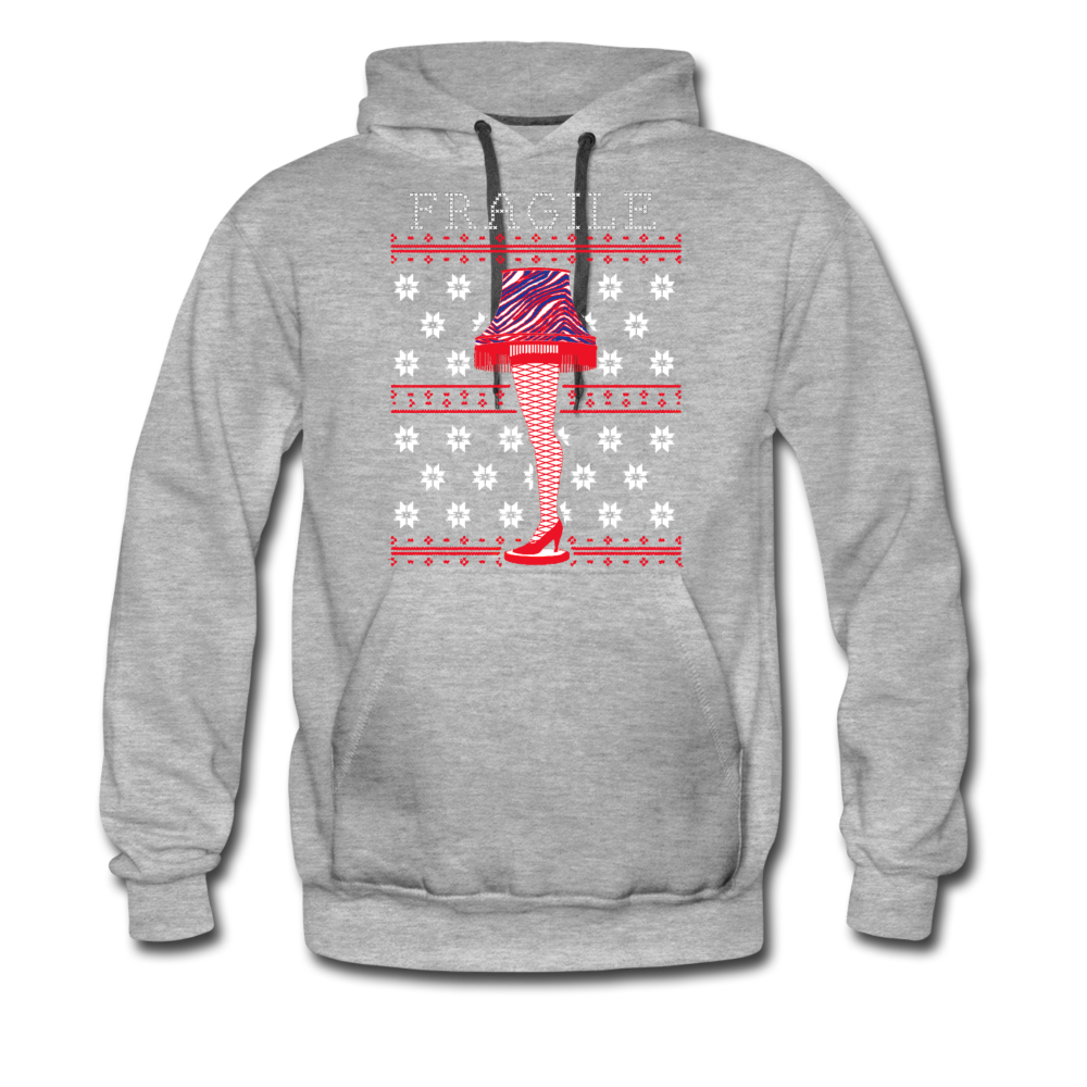 Men's Fragile Christmas Premium Hoodie - heather gray