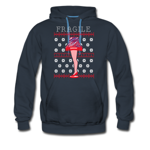 Men's Fragile Christmas Premium Hoodie - navy