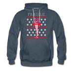Men's Fragile Christmas Premium Hoodie - heather denim