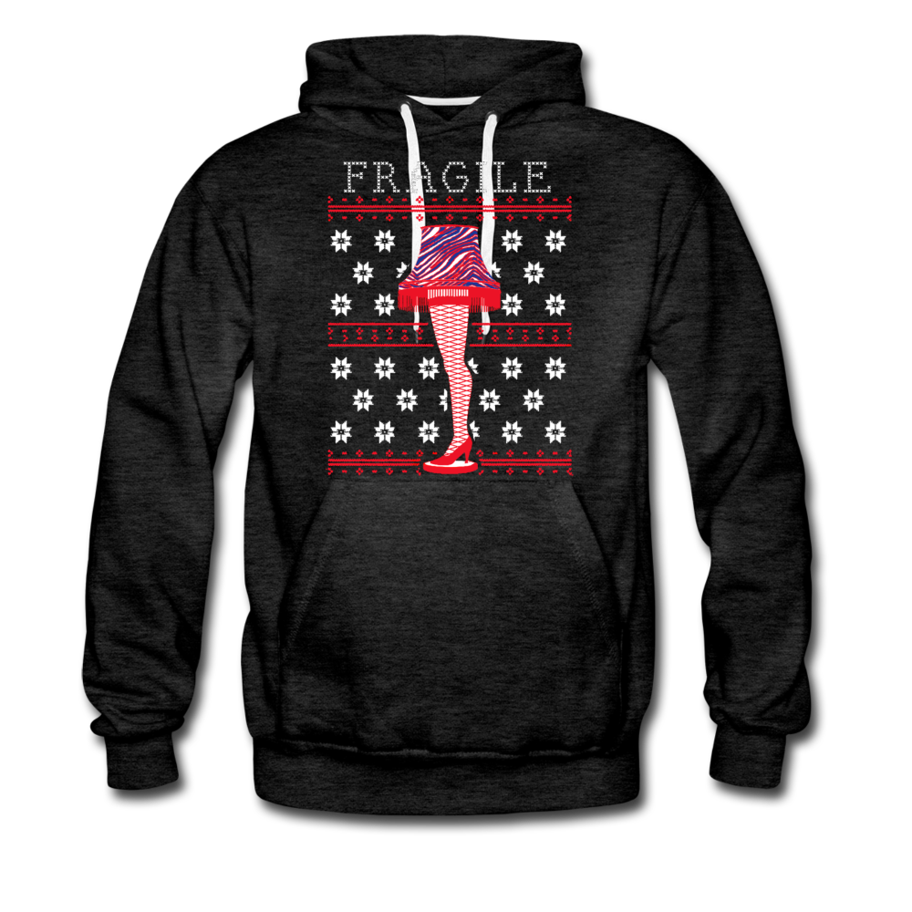 Men's Fragile Christmas Premium Hoodie - charcoal gray