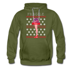 Men's Fragile Christmas Premium Hoodie - olive green