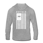 Unisex Buffalo USA Tri-Blend Hoodie Shirt - heather gray