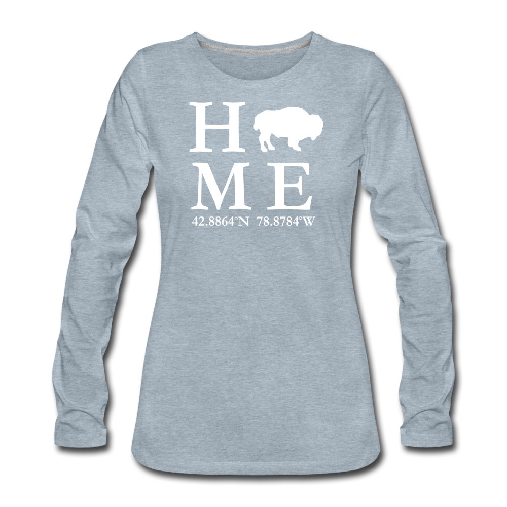 Women's Home Premium Long Sleeve T-Shirt - heather ice blue