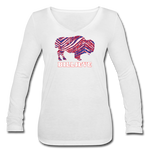 Women's Billieve V-Neck Flowy Long Sleeve - white