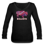 Women's Billieve V-Neck Flowy Long Sleeve - black