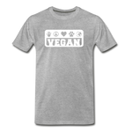 Men's Vegan Premium T-Shirt - heather gray