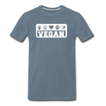 Men's Vegan Premium T-Shirt - steel blue