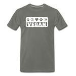 Men's Vegan Premium T-Shirt - asphalt gray