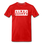 Men's Vegan Premium T-Shirt - red