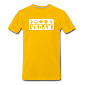 Men's Vegan Premium T-Shirt - sun yellow