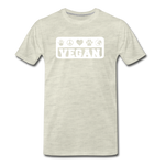 Men's Vegan Premium T-Shirt - heather oatmeal