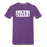 Men's Vegan Premium T-Shirt - purple