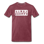 Men's Vegan Premium T-Shirt - heather burgundy