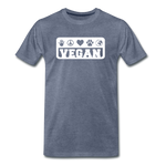 Men's Vegan Premium T-Shirt - heather blue