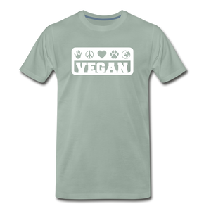 Men's Vegan Premium T-Shirt - steel green