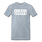 Men's Vegan Premium T-Shirt - heather ice blue
