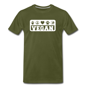 Men's Vegan Premium T-Shirt - olive green