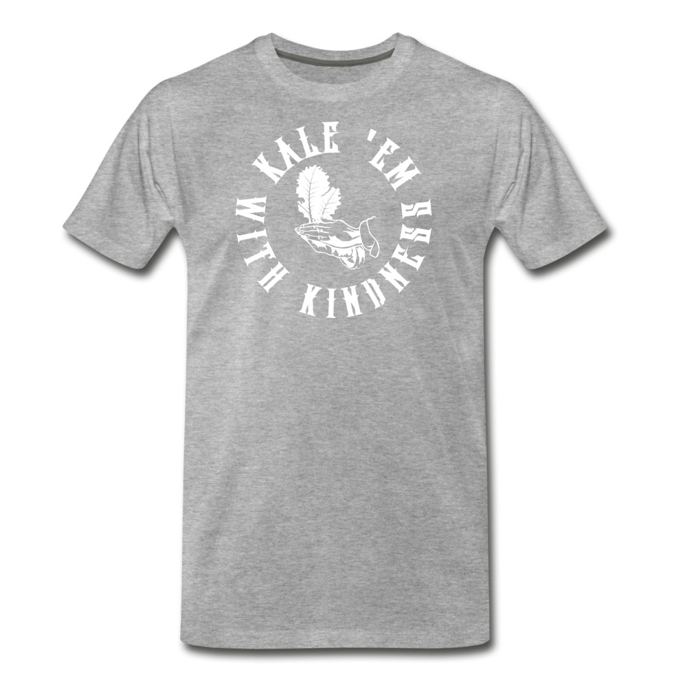 Men's Kale Premium T-Shirt - heather gray
