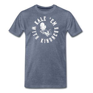 Men's Kale Premium T-Shirt - heather blue