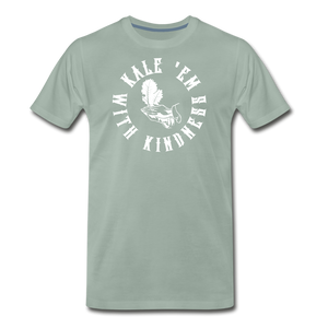 Men's Kale Premium T-Shirt - steel green