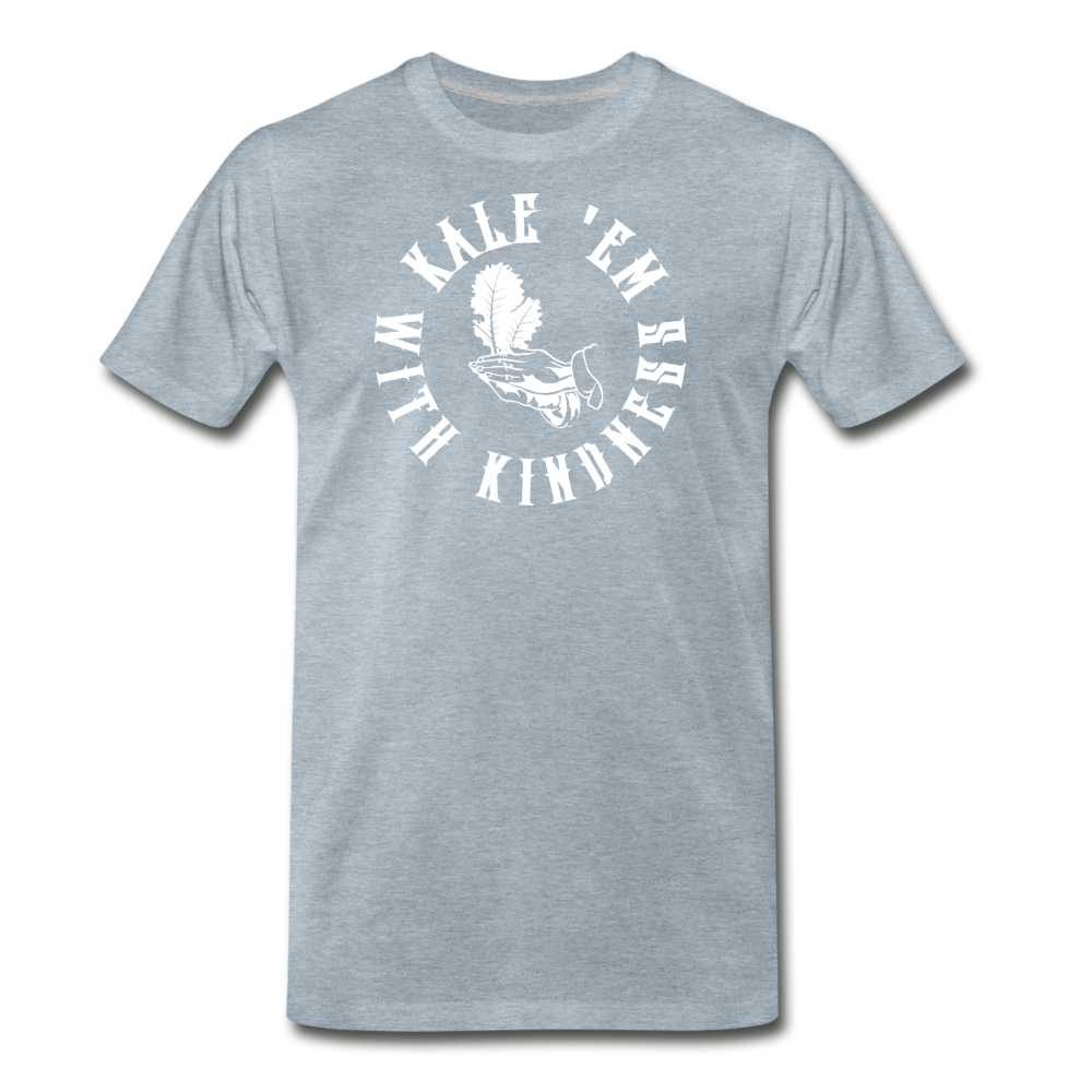 Men's Kale Premium T-Shirt - heather ice blue