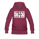 Women's Plant Power Premium Hoodie - burgundy