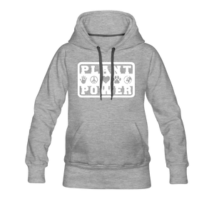 Women's Plant Power Premium Hoodie - heather gray