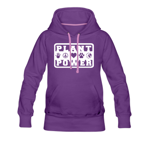 Women's Plant Power Premium Hoodie - purple