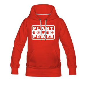 Women's Plant Power Premium Hoodie - red