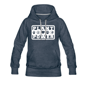 Women's Plant Power Premium Hoodie - heather denim