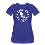 Women's Kale Premium T-Shirt - royal blue