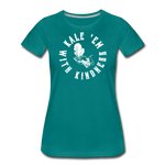 Women's Kale Premium T-Shirt - teal