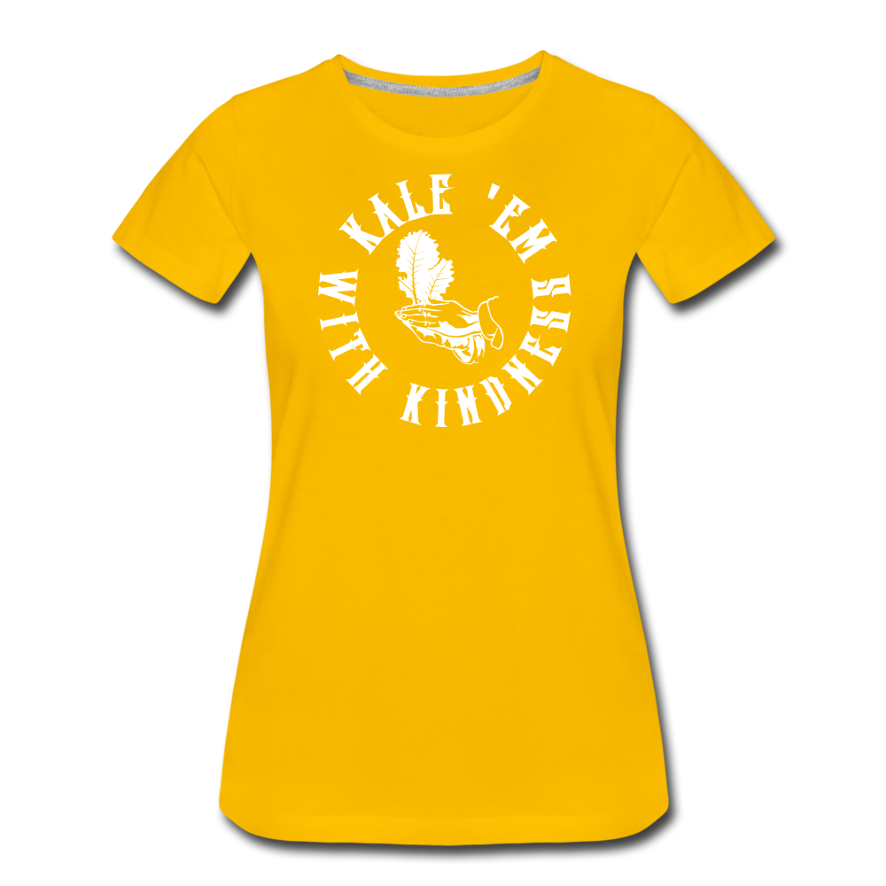 Women's Kale Premium T-Shirt - sun yellow