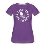 Women's Kale Premium T-Shirt - purple