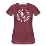 Women's Kale Premium T-Shirt - heather burgundy