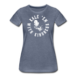 Women's Kale Premium T-Shirt - heather blue
