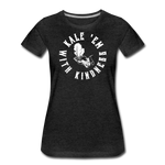 Women's Kale Premium T-Shirt - charcoal gray