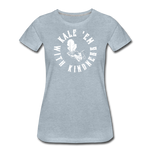 Women's Kale Premium T-Shirt - heather ice blue