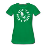 Women's Kale Premium T-Shirt - kelly green