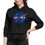 Women's Nasa Cropped Hoodie - deep heather