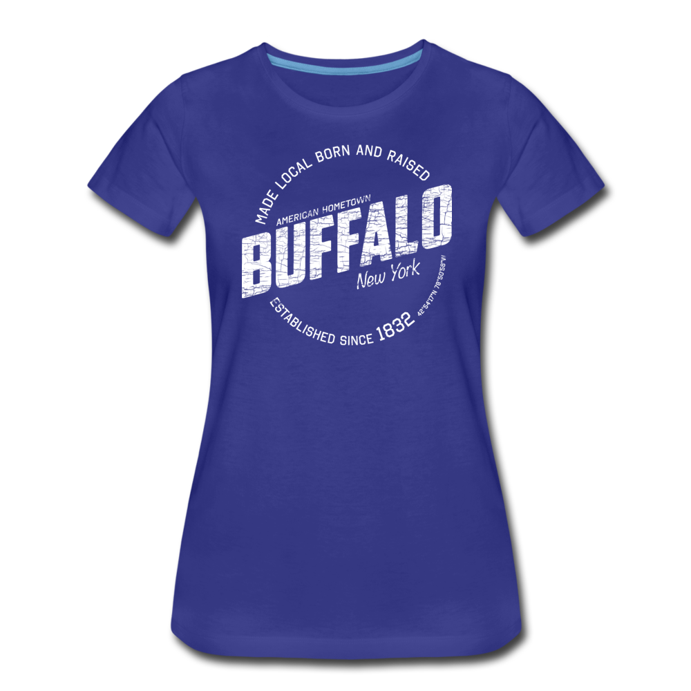 Women's Stamp Premium T-Shirt - royal blue