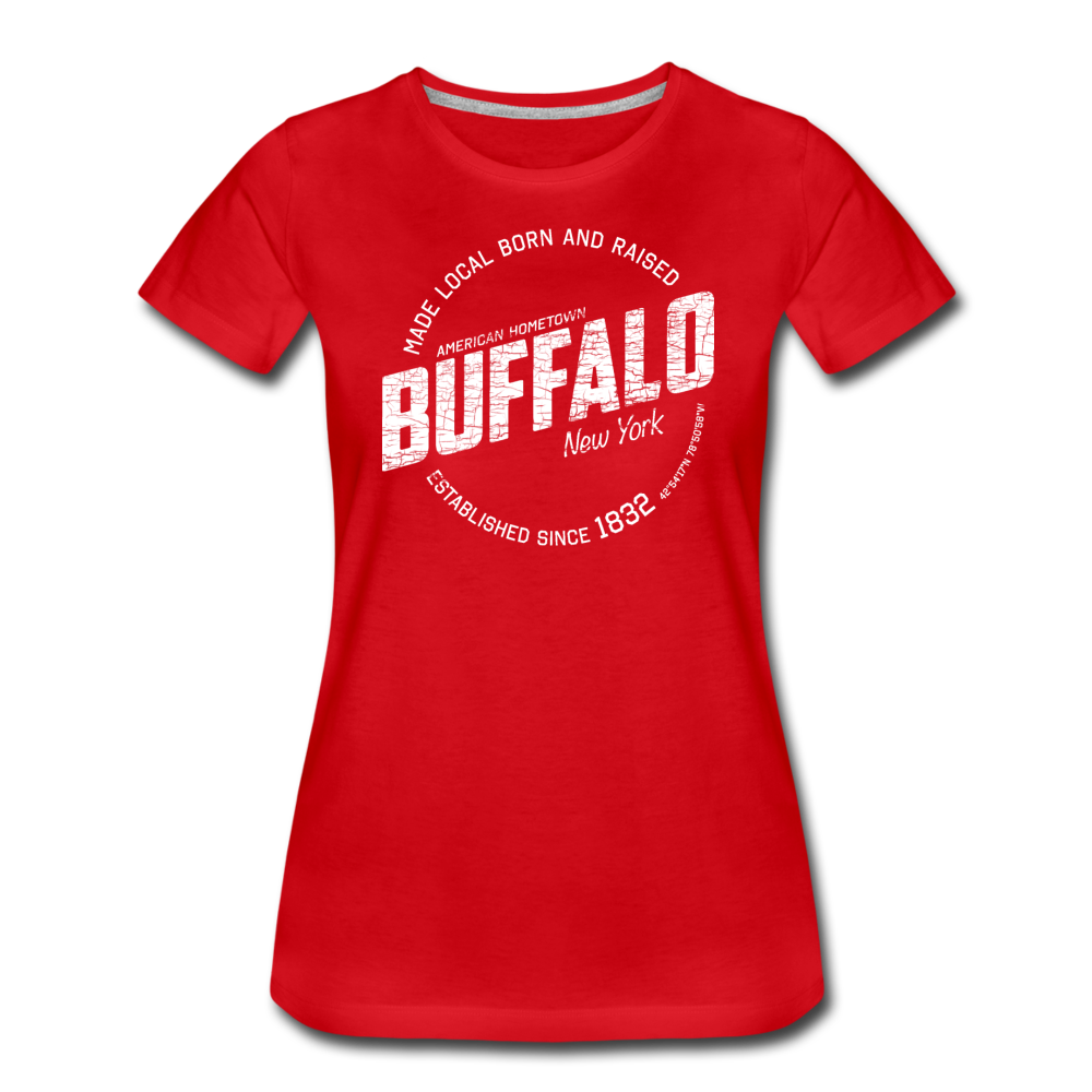 Women's Stamp Premium T-Shirt - red