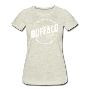 Women's Stamp Premium T-Shirt - heather oatmeal