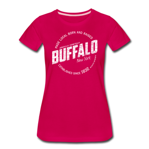 Women's Stamp Premium T-Shirt - dark pink